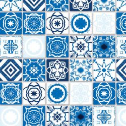 Embossed Mediterranean Tile Sheet