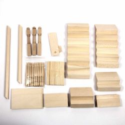 Corner Staircase Kit (Wood) - 1:12 scale