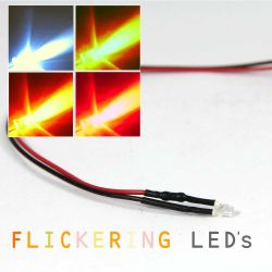 Flickering LED Light - 12V - 3mm