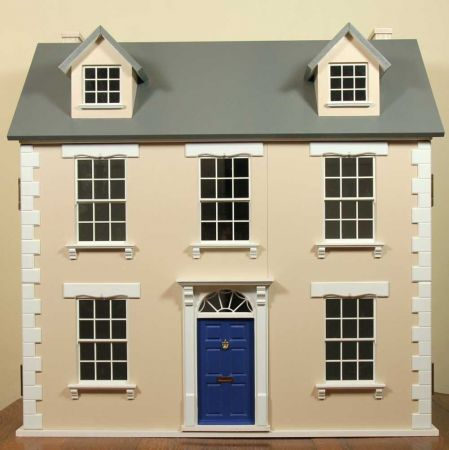 Georgian Style Built & Decorated Dolls House