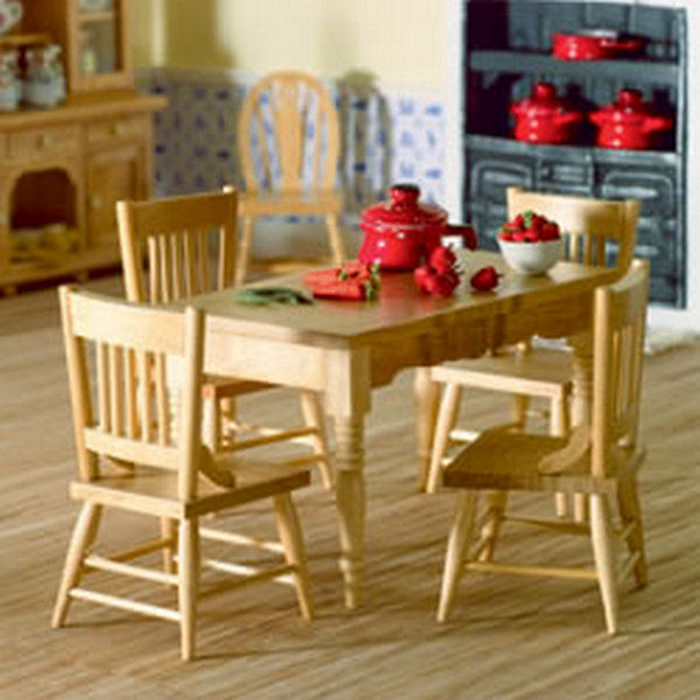 kitchen table four chairs 12th scale furniture 2037