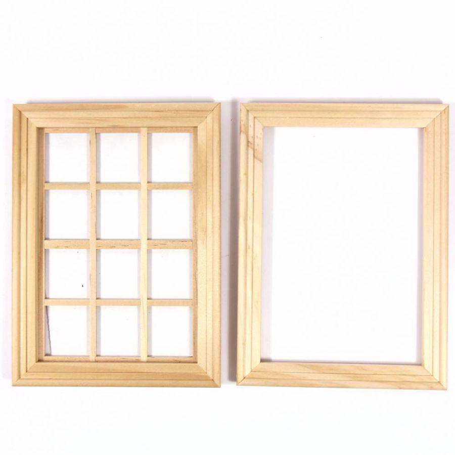 Medium Wooden Window 12 Pane 7105