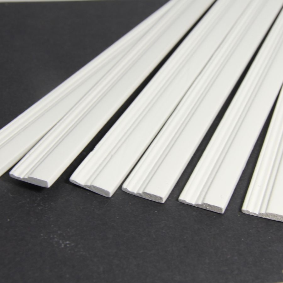 White Painted Skirting Board Moulding X6 Pcs 7172