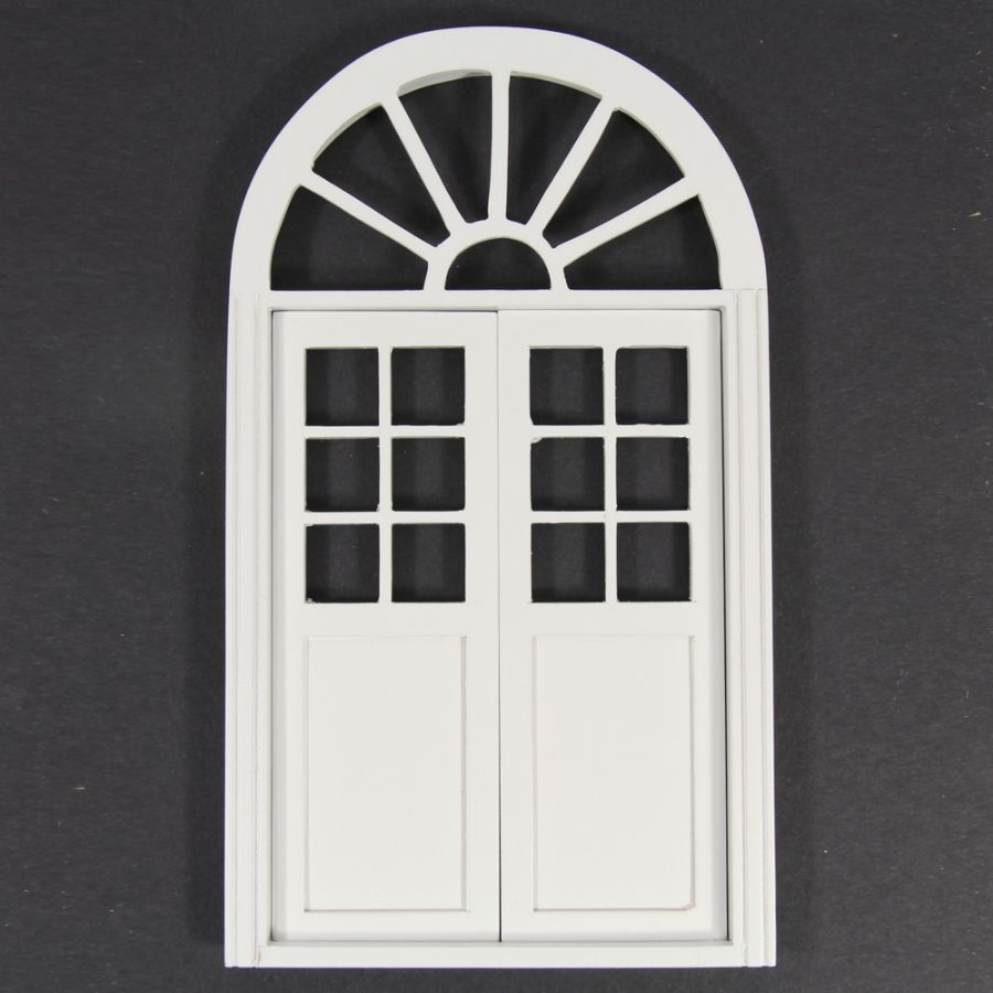 Arched Door White Painted 1 12 Scale Bc74wh