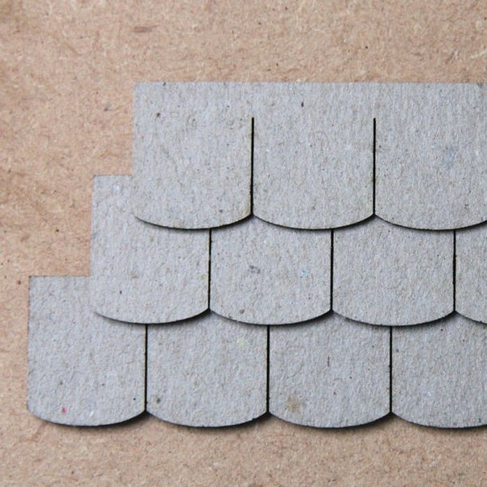 Dolls House Roof Tiles Slate Strips X12 Bct10