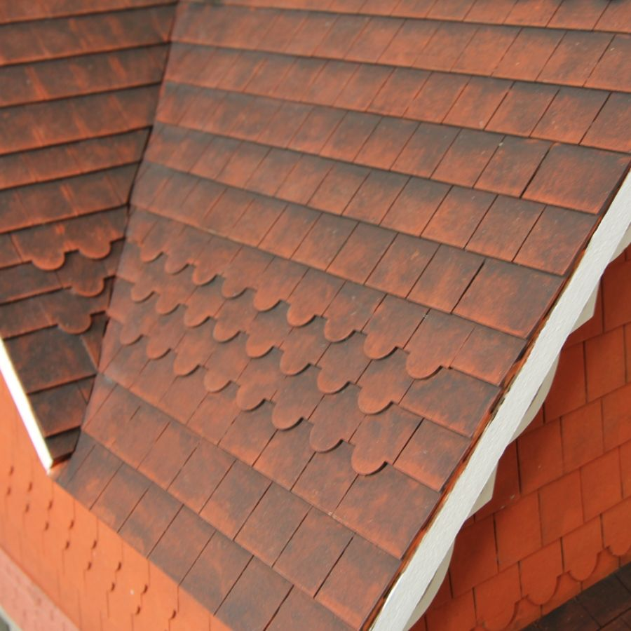 Dolls House Roof Tiles Strips 16mm X12. Hover To Zoom