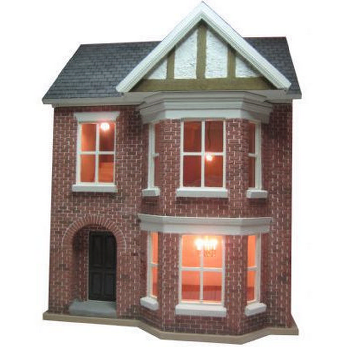 Good Decorated Bay View Dolls House (1:24 Scale). Tap To Expand