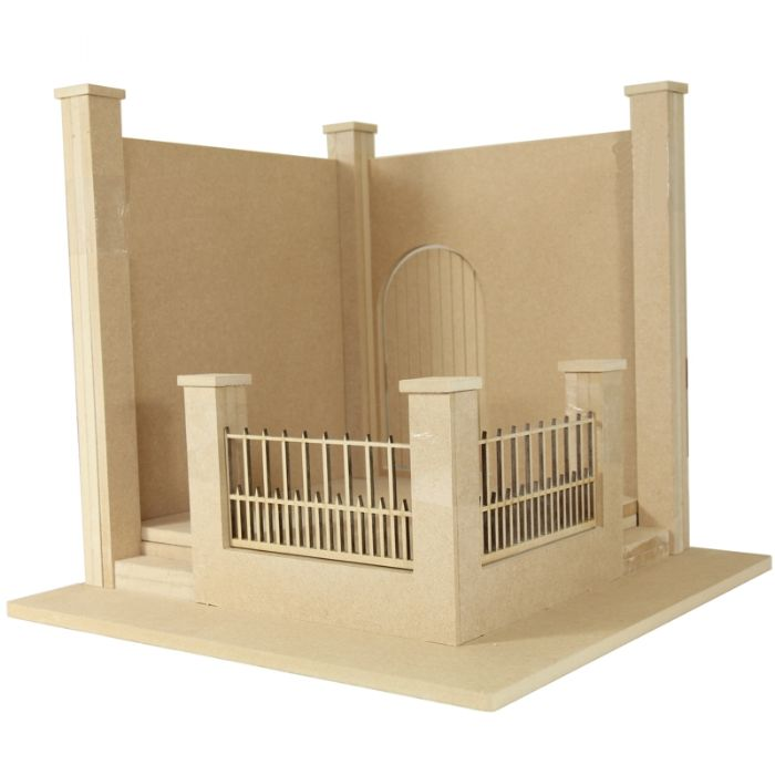 Walled Garden Kit 1 12 Scale Bdh0612 Bromley Craft