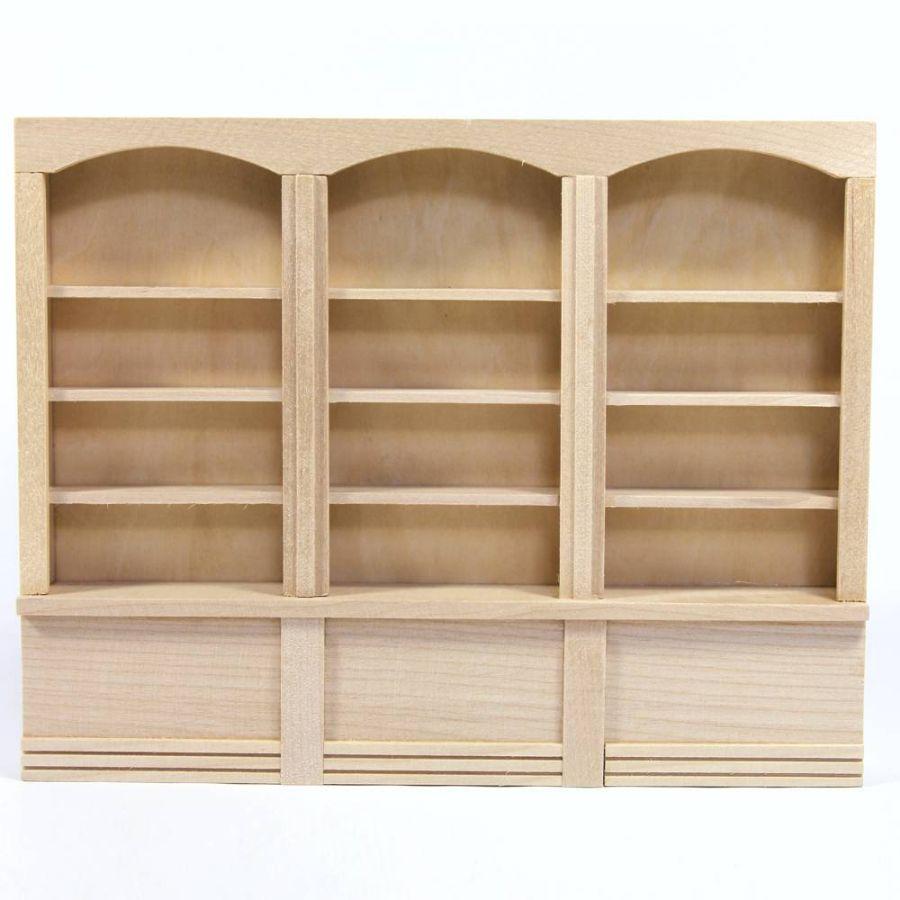 Triple Dolls House Shop Shelf Unit