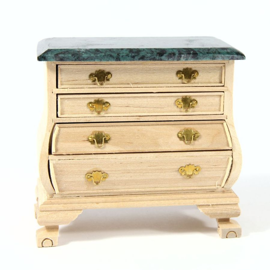 Chest Of Drawers 1 12 Scale Plain Wood
