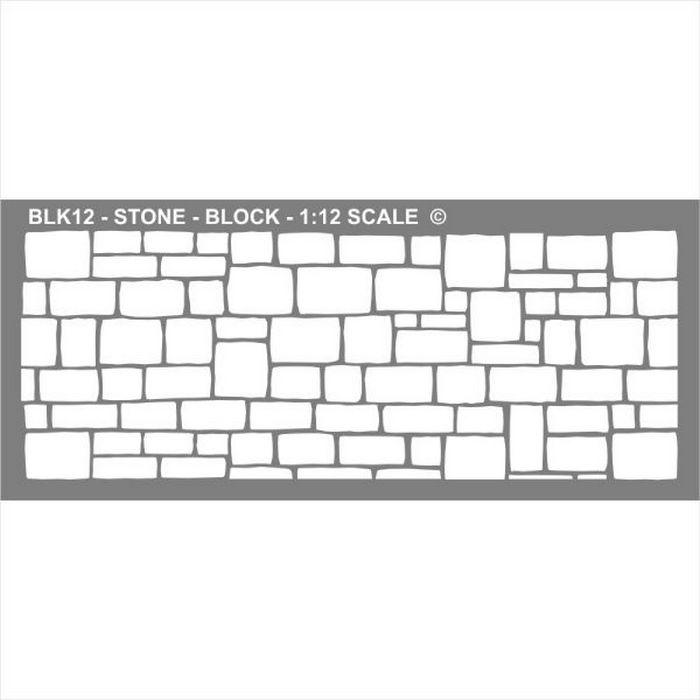 Stone Block Stencil Blk Bromley Craft