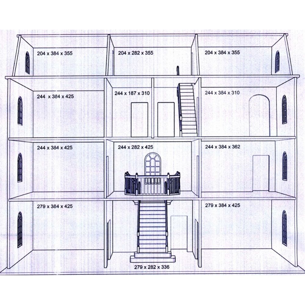 Downton manor dolls house kit latest design btk003 for How to find blueprints of a house