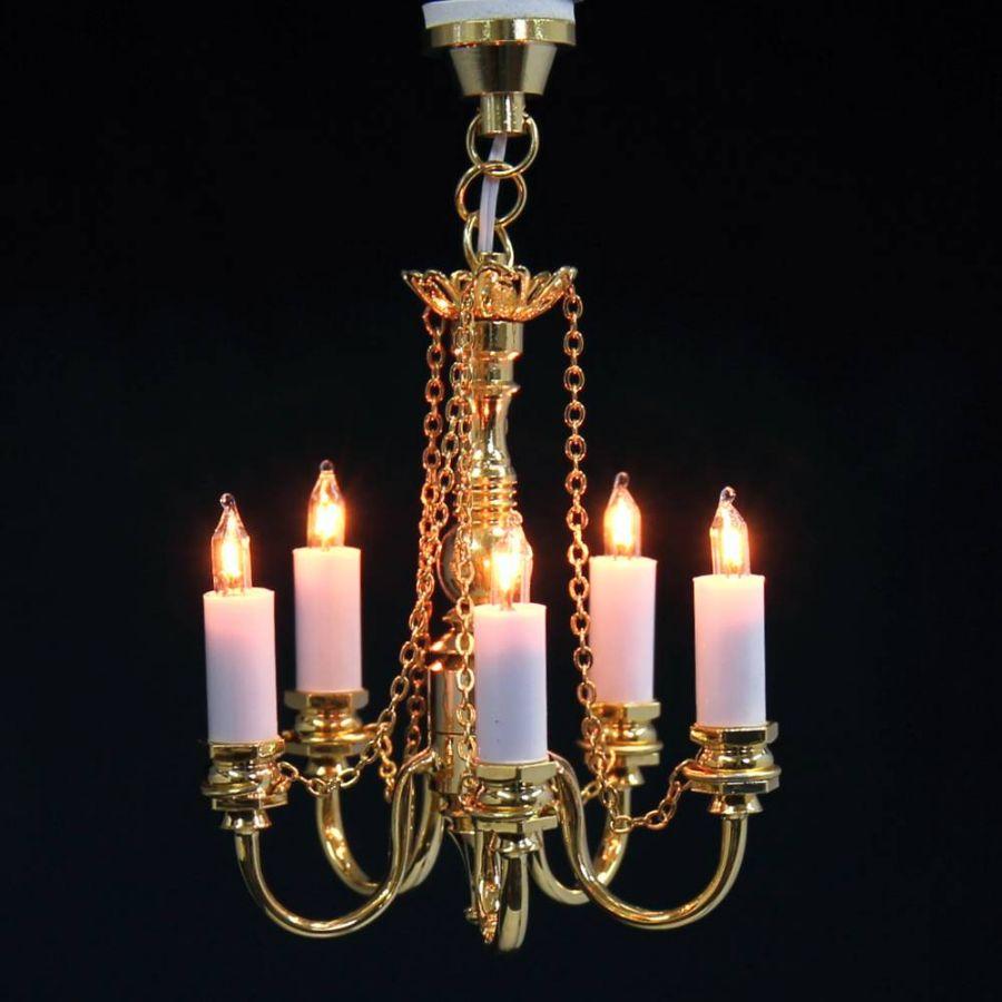 5 Candle Dolls House Chandelier (LT6028), DE088