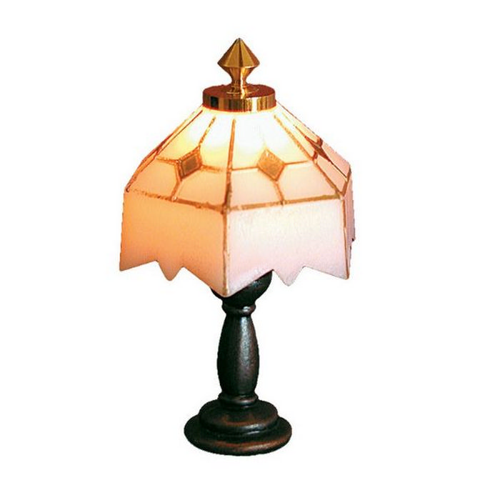 de092 tiffany style lamp white shade from bromley craft products. Black Bedroom Furniture Sets. Home Design Ideas