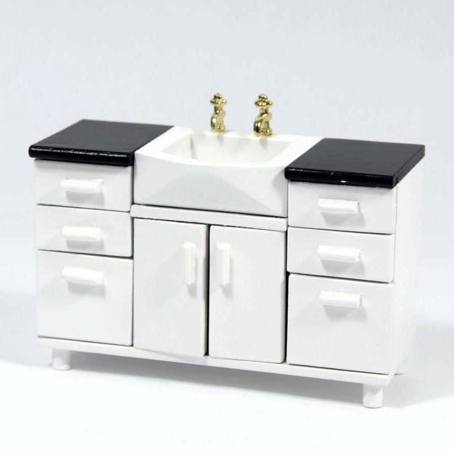 Modern Dolls House Bathroom Sink Unit Df1525
