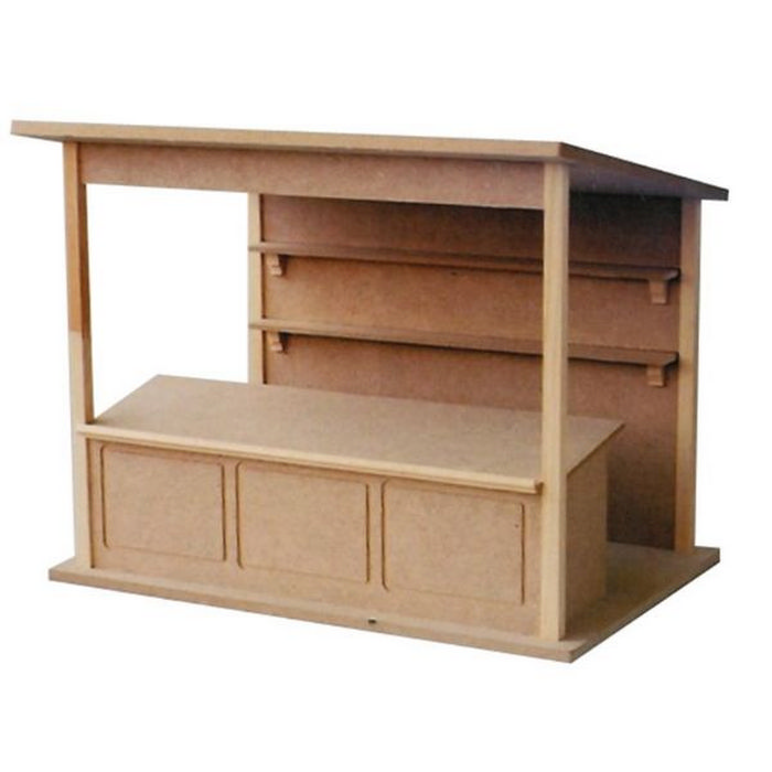 Diy Miniature Doll House Flat Packed Cardboard Kit Mini: 1:12 Scale, DH514