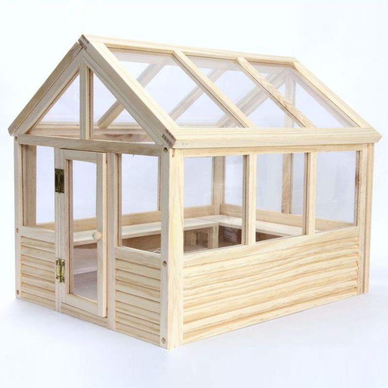 wooden greenhouse kit 1 12 scale dh533