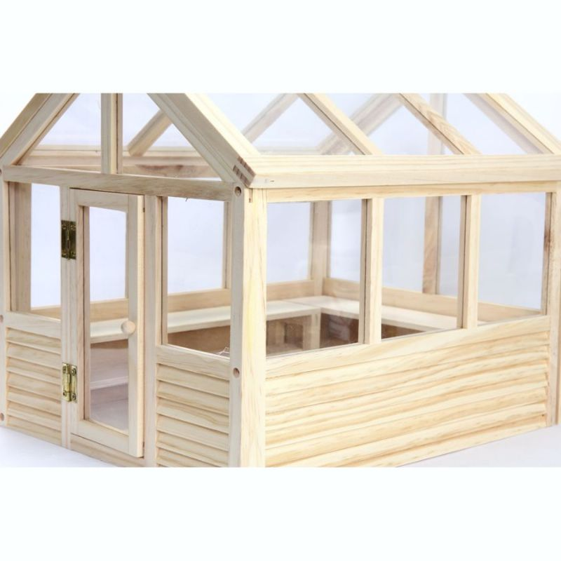 Wooden Greenhouse Kit 1 12 Scale Dh533 Bromley Craft