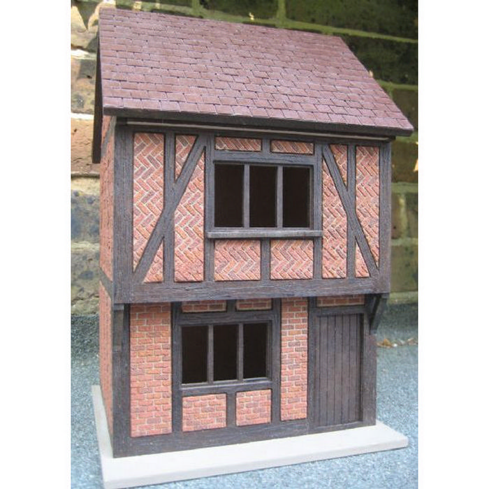 Small Tudor Dolls House   1:24 Scale Externally Decorated. Hover To Zoom