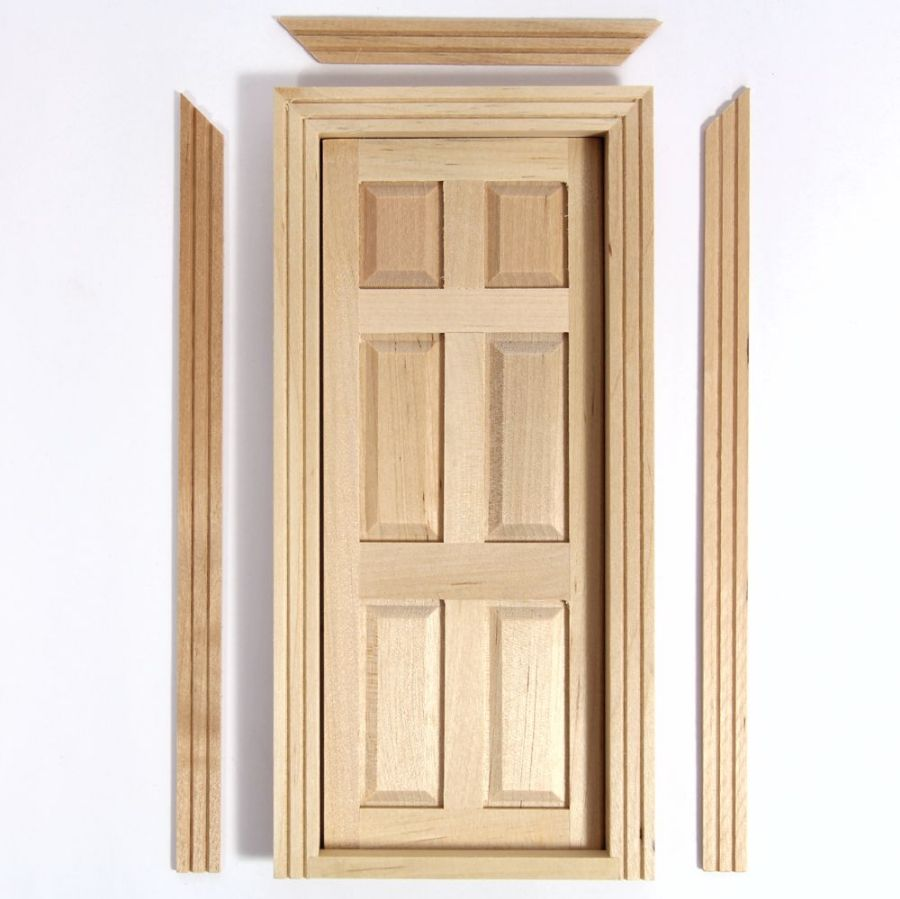 Wooden Interior Door for 1:12 Scale Dolls House (TC6007), DIY001