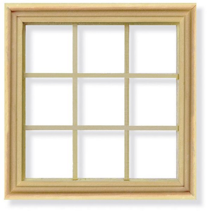 9 pane window frame for 1 12 scale dolls house diy003 for Affichage fenetre miniature windows 7