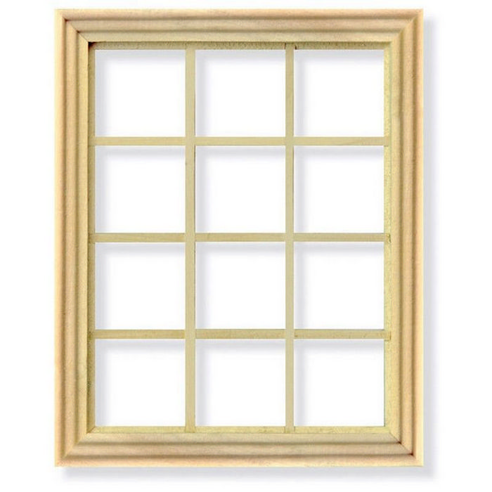 12 pane window frame for 1 12 scale dolls house diy004