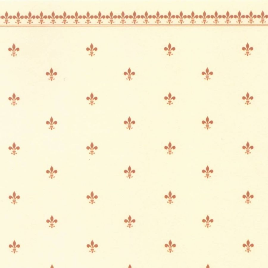 Fleur De Lys Dolls House Wallpaper Gold Ivory Diy075a
