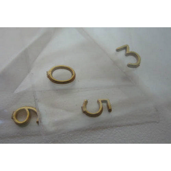 Solid Brass Door Numbers For 1:12 Scale Dolls House. Hover To Zoom