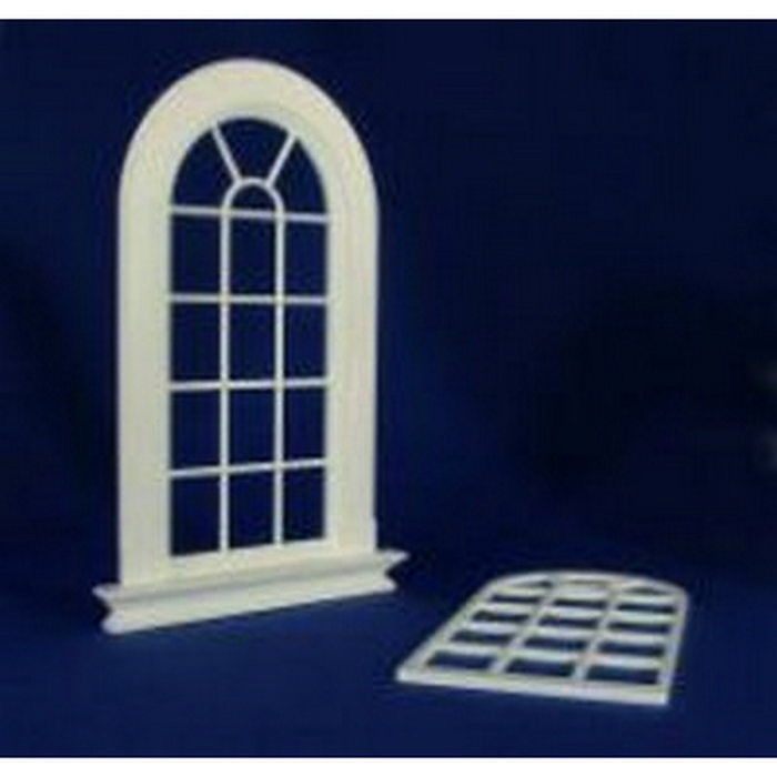 Georgian 16 pane arched top window plastic 1 12 scale for 16 pane window