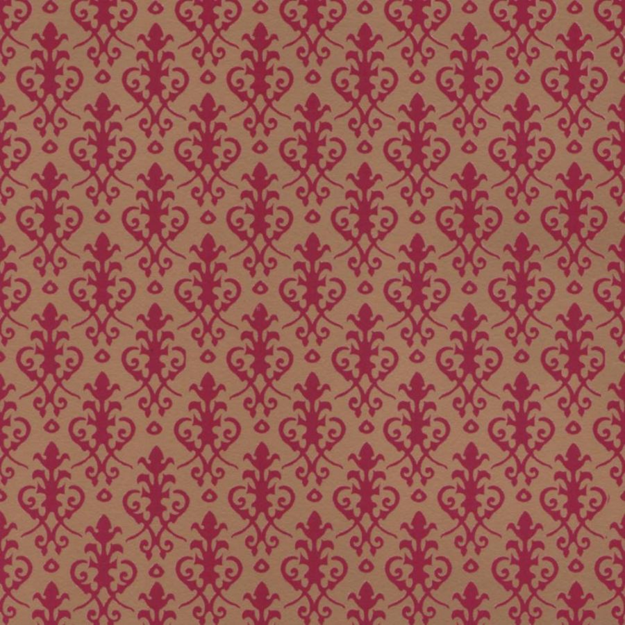 Victorian Dolls House Wallpaper Red On Gold Diy280rg