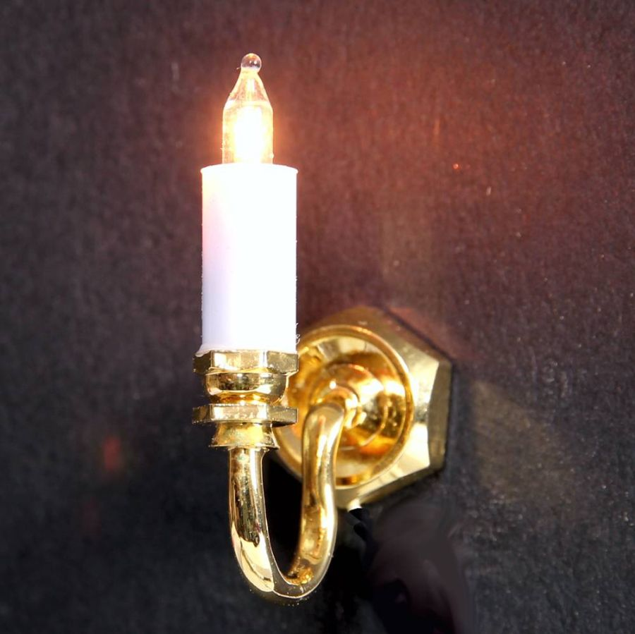 Wall Candle Light : Single Wall Candle Light (LT2001), Wired Lights, EL18 from Bromley Craft Products Ltd.