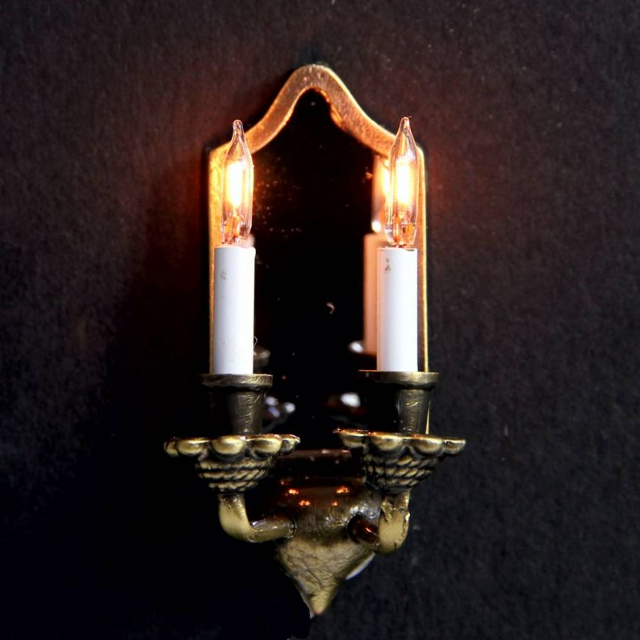 Candle Wall Light Fittings : Nostalgic Wall Sconce with 2 Candle Lights, Wired Lights, LT2089 from Bromley Craft Products Ltd.