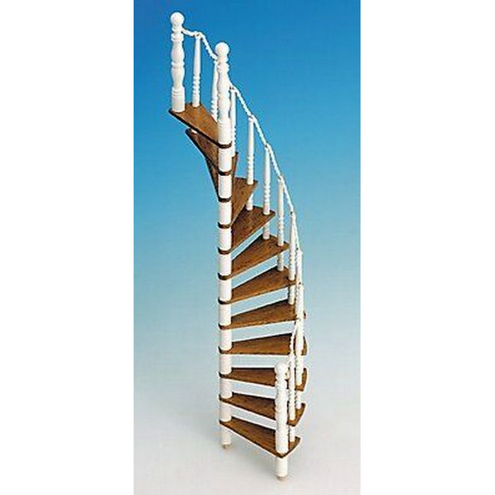 spiral staircase kit wood 1 12 scale components md70110 from