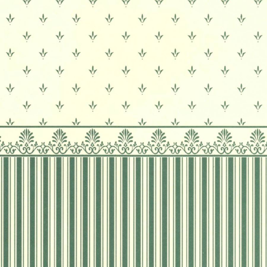 Grosvenor Green Cream Dolls House Wallpaper Wp531