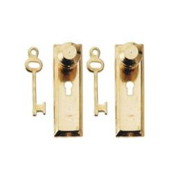 Knob Keyplate & Key Set x2