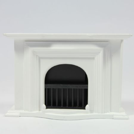 Large White Georgian Fireplace
