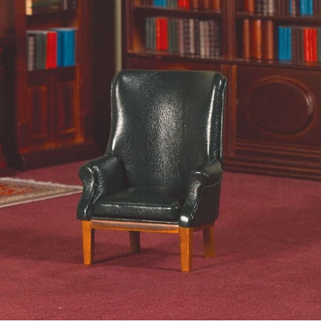 Green 'Leather' Porter's Chair 12th Scale