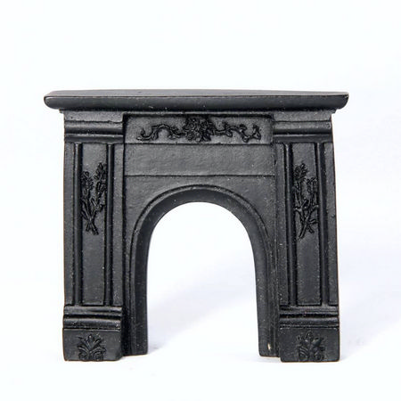 Black Fireplace for 1:24 scale dolls house