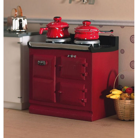 Dolls House Red Aga Style Stove 2941 Bromley Craft