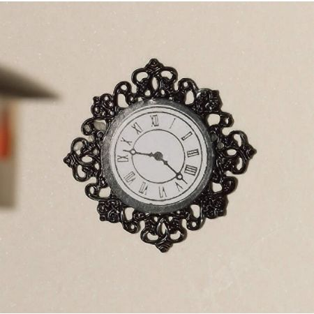 Black Fancy Wall Clock