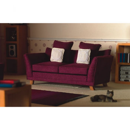 Soft Plum Sofa for Dolls House