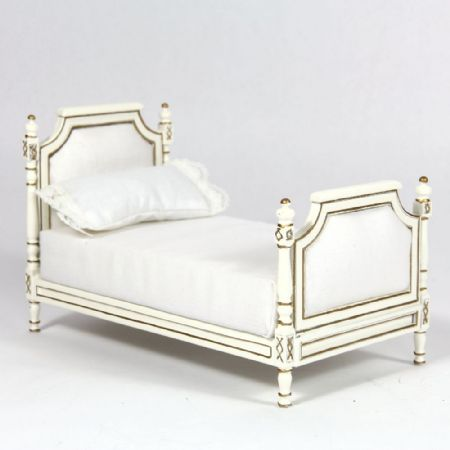 Cream Upholstered Single Bed