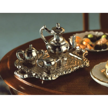 4 Piece Metal Tea set