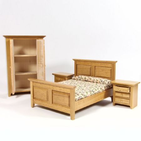 Country Dolls House Bedroom Furniture Set #2