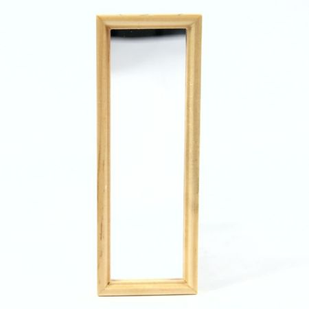 Dressing Mirror with Light wood Frame