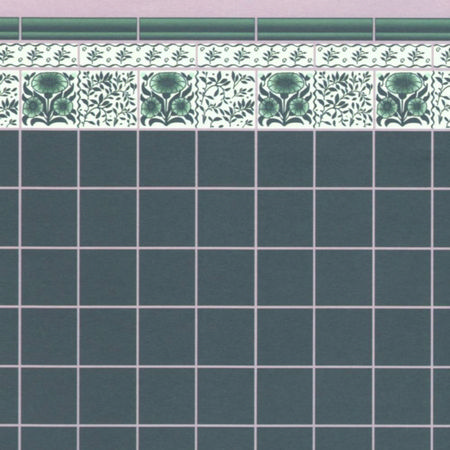 Green Oreton Tile Wallpaper