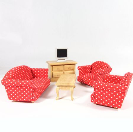 Dolls House Sitting Room Furniture Set