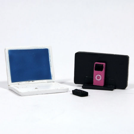 Dolls House Laptop, MP3 & Mobile Phone