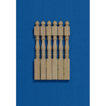 Staircase Tapered Newel Posts x6 for 1:12 Scale Dolls House