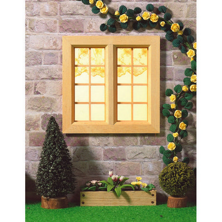 Cottage Wooden Window Medium